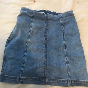Adorable free people jean skirt